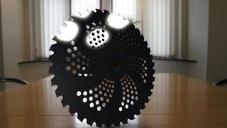 Компас 3D уроки - диск для кустореза (brush cutter)