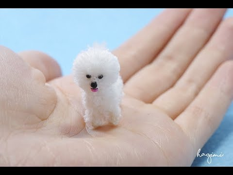WHITE CROCHET BICHON FRISE DOG - HAGIMI