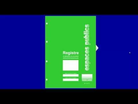 Registre des ESPACES PUBLICS - Guillard-Publications