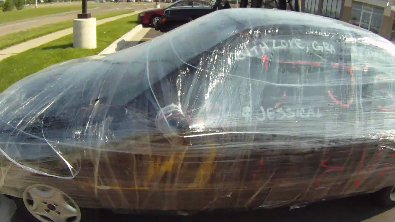 Saran Wrap Car: Car In Plastic Wrap 5.30.10