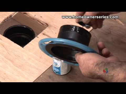How to Fix a Toilet  Wooden SubFlooring Flange Repair  Part 2 of 3  YouTube