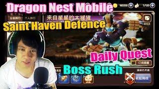 Banyak EXP di Daily QUEST !!! Dragon Nest Mobile - Boss Rush - Saint Haven Defence
