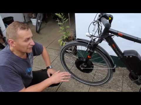 Передний мотор-колесо 1000 ватт и велосипед, обзор после 1года эксплуатации.(Review after 1year)
