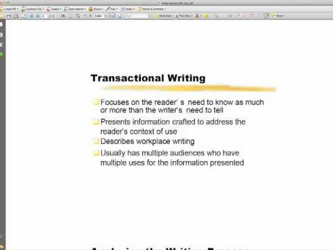 transactional writing activities