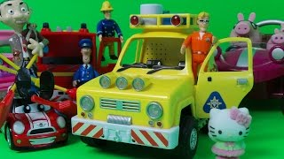 Top 6 Toys Inc. Jupiter Fire Engine, Peppa Pig's Talking Car, Postman Pats Helicopter & Hello Kitty
