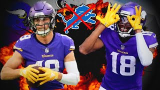 Minnesota vikings star receivers justin jefferson and adam thielen will both dominate with big games sunday versus the detroit lions. become a channel member...