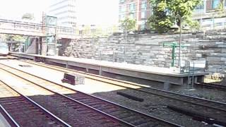Amtrak Acela Express passing New Rochelle Station