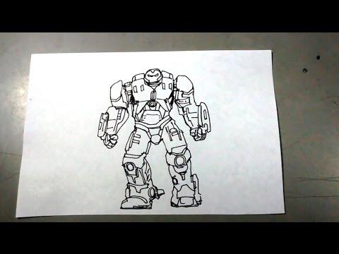Cómo Dibujar Paso A Paso A Hulkbuster Iron Man Veronica