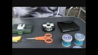 How to make a coarse fishing rig (small silver fish, whipping)
