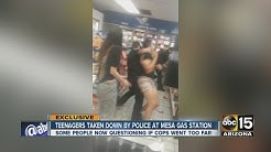 Teenagers taken down by police at Mesa gas station