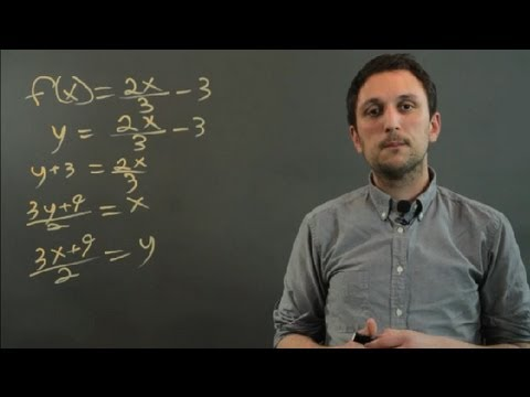 How To Find The Inverse Of A Function That Contains A Fraction : Fractions & Decimals