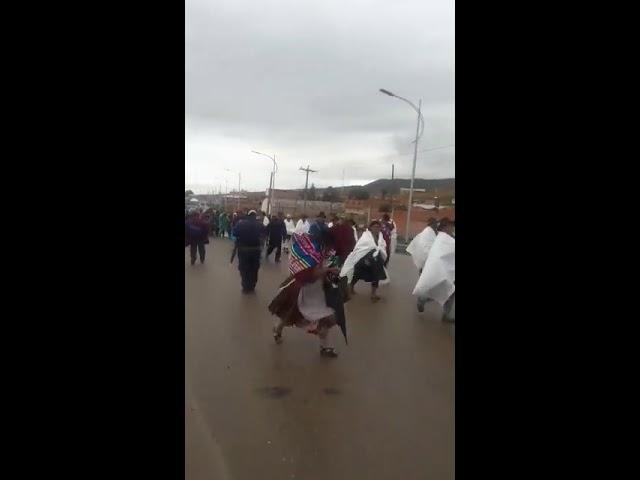 Marcha Qhara Qhara, ingreso a la ciudad de Potosi