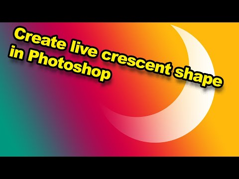 Photoshop: How to create crescent shapes in Photoshop