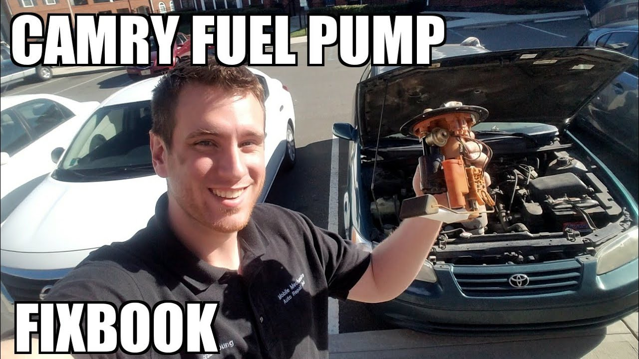 hight resolution of fuel pump 97 01 toyota camry replacement how to