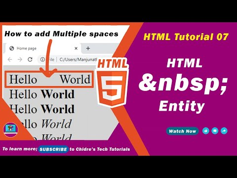 HTML Video Tutorial - 07 - Html White Space