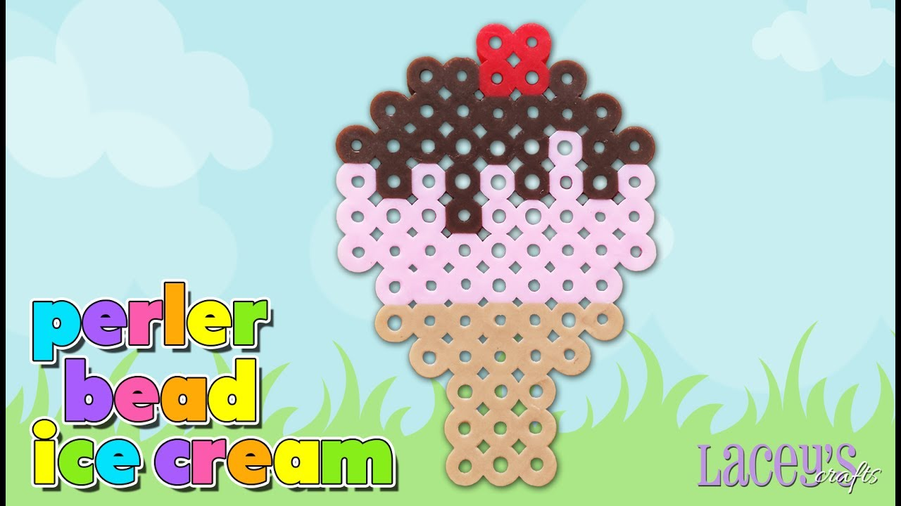 How to Make a Cute Ice Cream Cone with Perler Beads