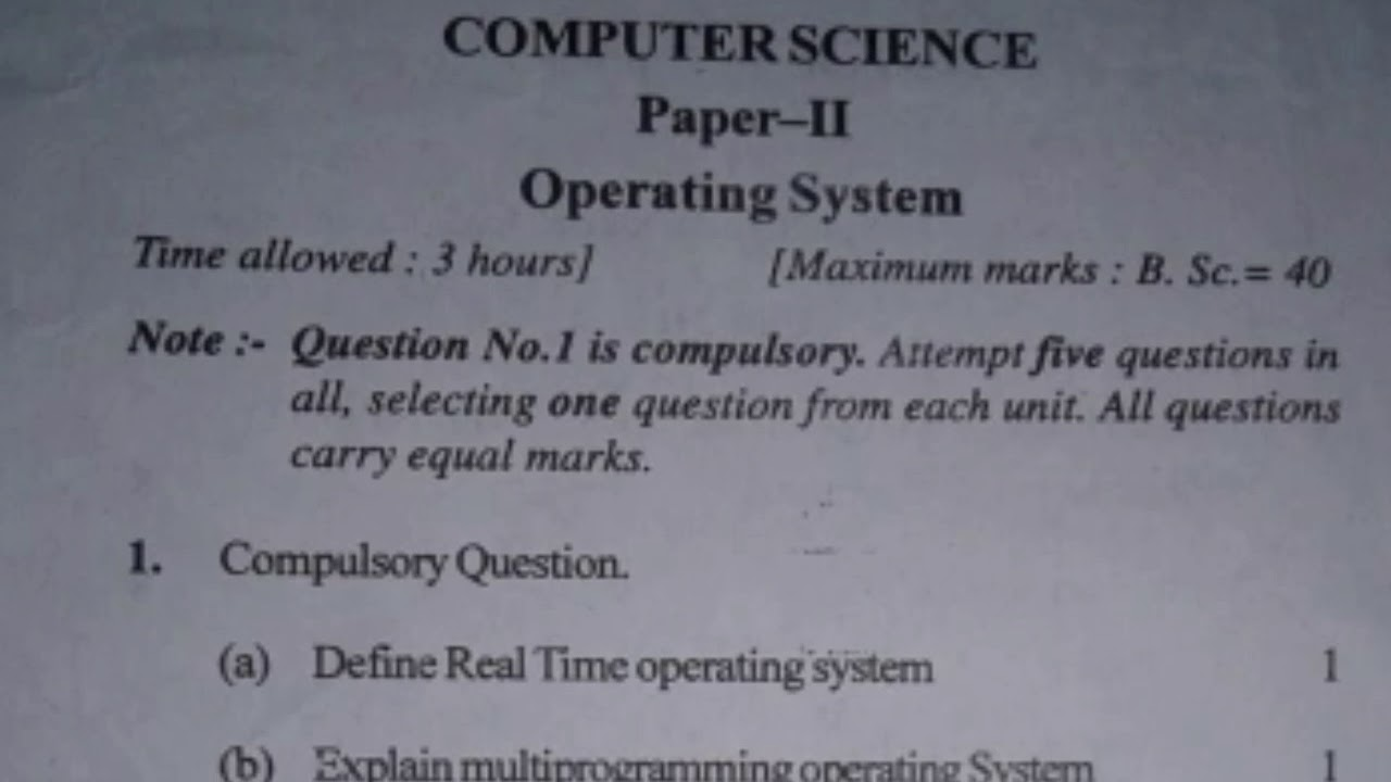 Papers on operating system