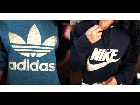 HOW TO: DIY Nike & Adidas Hoodies/Sweatshirts EASY