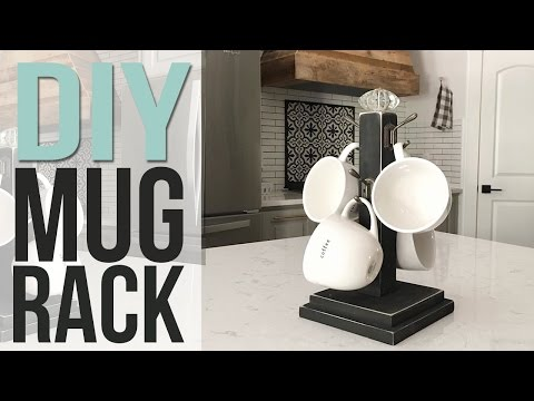 DIY Coffee Mug Holder | HOLIDAY GIFT IDEA