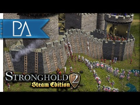 Vikings Attack! My First Siege Battle - Stronghold 2 Steam Edition Gameplay