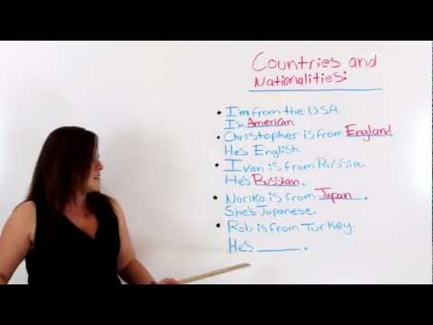 Countries and Nationalities In English