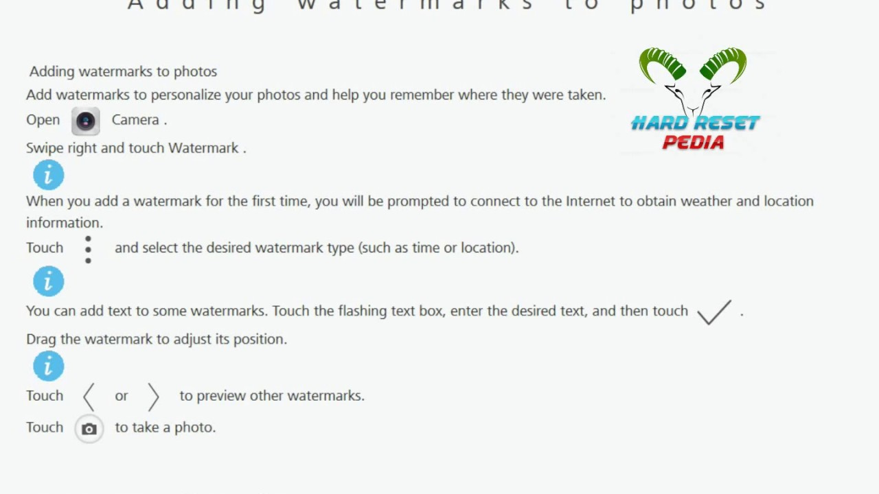 Adding watermarks to photos HUAWEI nova 2i