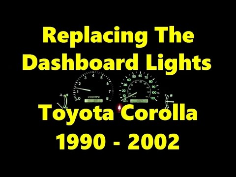 How To Replace Dashboard Light Bulbs On Toyota Corolla 1990 - 2002 Use 194LL Bulbs #toyotacorolla