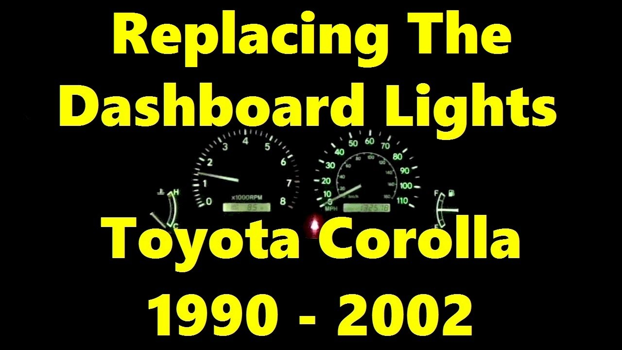 How To Replace Dashboard Light Bulbs On Toyota Corolla 1990 2002 Use 194ll Toyotacorolla You