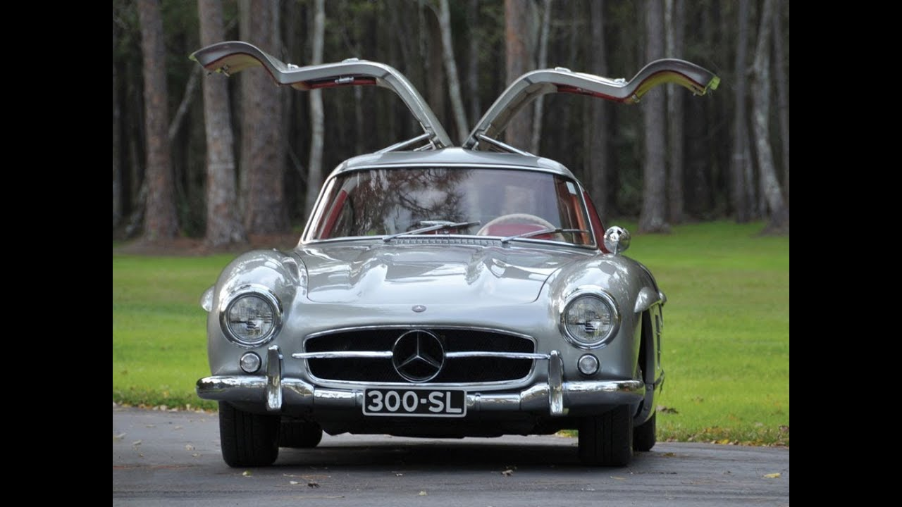 1955 mercedes benz 300sl gullwing youtube for Mercedes benz gullwing 1955