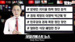 경제 폭망이 이명박 박근혜 탓이라는 더불어민주당