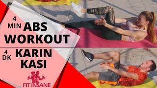 4 Minute Abs Workout | FITINSANE | 2019