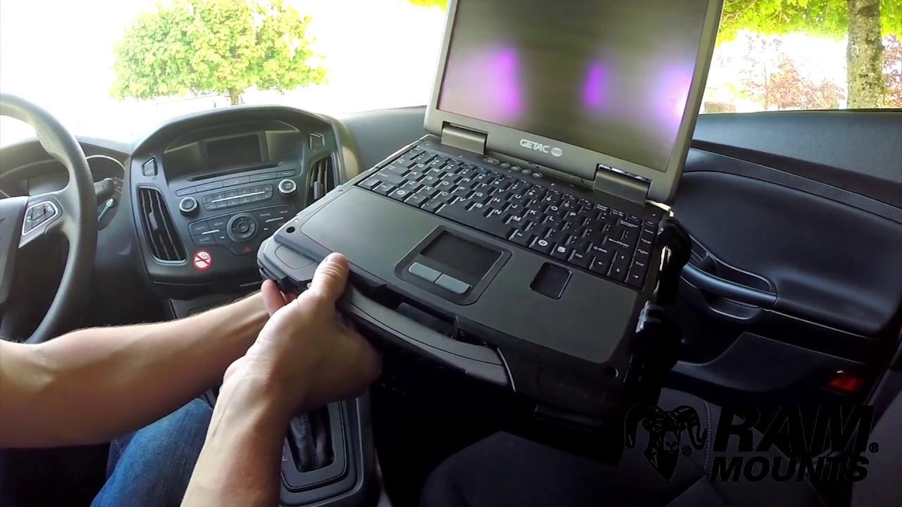 RAM® No-Drill™ Laptop Mount for '02-11 Chevy Trailblazer + More
