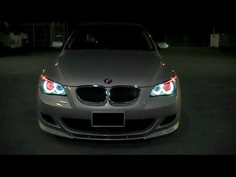 Bmw E60 Hid Angel Eyes Amp Red Devil Eyeballs Youtube