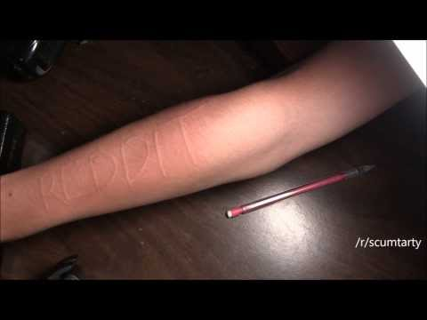 Words on Skin Swilling Timelapse