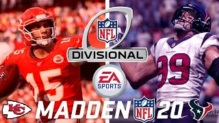 Who Will Win In the Playoffs? | Madden NFL 20 Simulation | Texans Vs. Chiefs