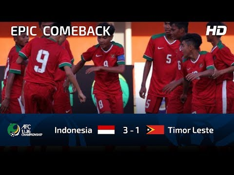 FULL HIGHLIGHTS INDONESIA U16 vs TIMOR LESTE U16 | AFC U16 CHAMPIOSHIP