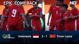 FULL HIGHLIGHTS INDONESIA U16 vs TIMOR LESTE U16   AFC U16 CHAMPIOSHIP