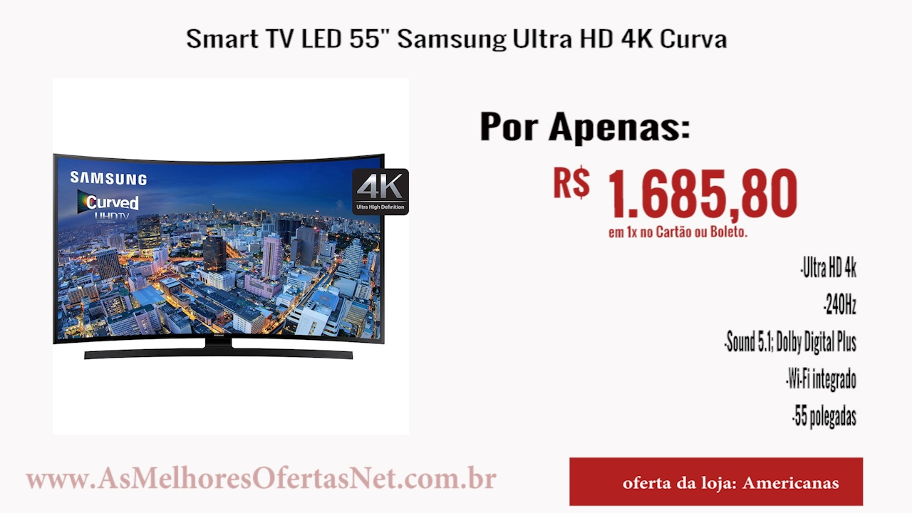 69da842b9  Oferta Encerrada  Smart TV LED 55