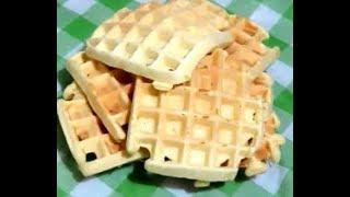 Заварные вафли в электровафельнице  Waffles in electric wafer