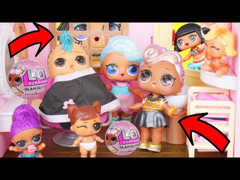 LOL Surprise New Winter Disco Bedroom Playset with Barbie Family Goldie
