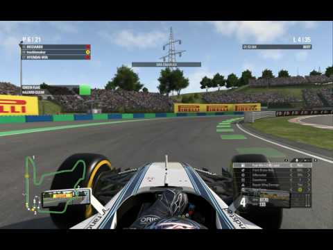 F1 2016 Game ZIVA 리그S2  R1 Hungary  Online multiplay