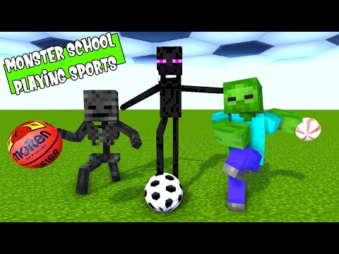 MONSTER SCHOOL ALL PLAYING SPORTS    MINECRAFT ANIMATIONS