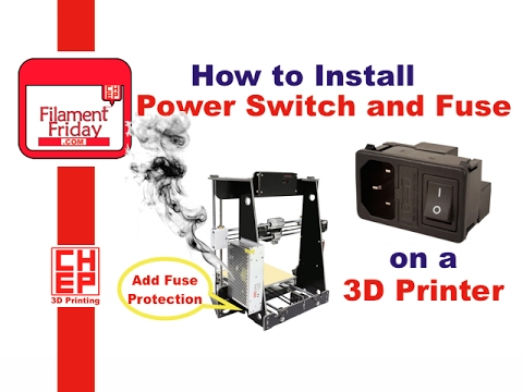 How to install IEC AC Plug Switch Fuse module on a 3D