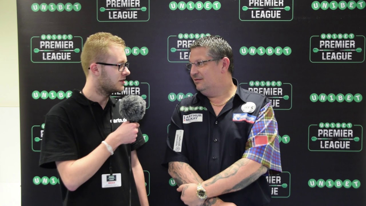 Interview Gary Anderson Premier League Darts Berlin 2018 Youtube