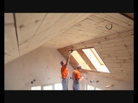Как подшить потолок деревянной вагонкой? - Дача