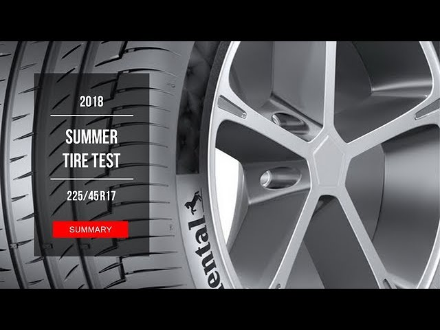 2018 Summer Tire Test Results 225 45 R17 Youtube