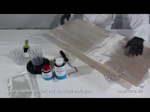 Top Glasgewebe mit Epoxidharz aufbringen - Bootsbau & Modellbau - YouTube JX09