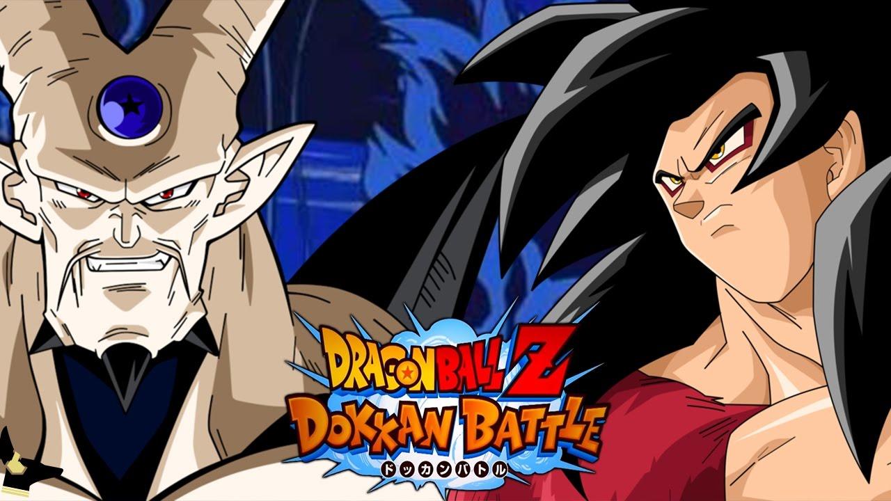 super saiyan 4 goku vs omega shenron dbz dokkan battle jp i