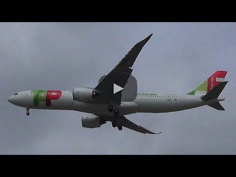 ✈ FIRST A330NEO for TAP Air Portugal | LOW PASS at AIRBUS Hamburg Finkenwerder Airport
