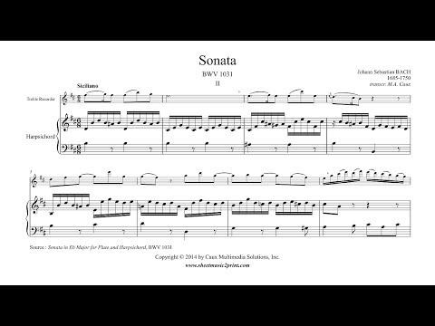 Bach : Siciliano BWV 1031 - Treble Recorder
